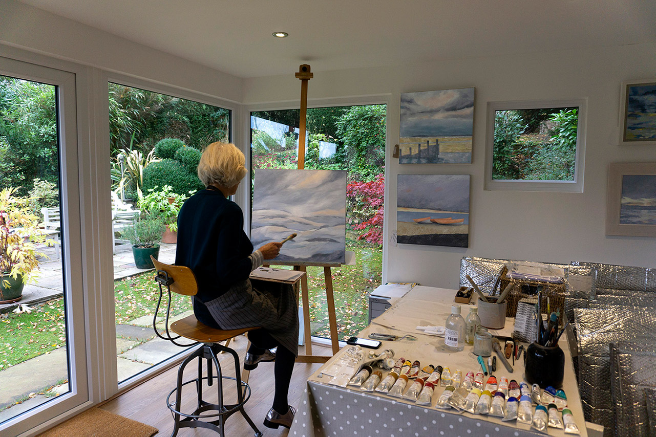 Katie in her studio